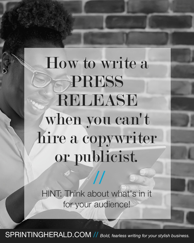 How to write a press release when you don't have a copywriter or publicist // SPRINTINGHERALD.COM
