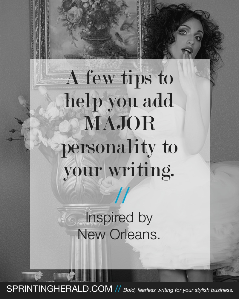 How to Add MAJOR Personality to Your Business Website Writing // SprintingHerald.com
